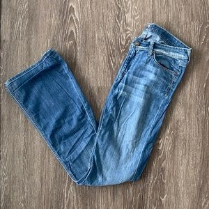 7 for all mankind light wash boot cut jeans
